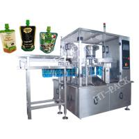 Cheap Jam / Sauce / Milk Liquid Pouch Packing Machine With Injector , Stainless Steel Material wholesale