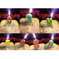Cheap Rose Design 0 - 9 Number Birthday Candles For Birthday Party , Customized Color wholesale