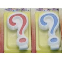 Cheap !Question Mark !White Egde Question Mark Shape Candles  with 2 Colors Filling-in wholesale