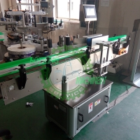 China Automatic With Code Printer Self-Adhesive Round Bottle Labeling Machine on sale