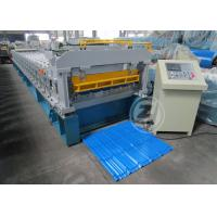 Cheap Customized Roof Tile Roll Forming Machine Mitsubishi PLC , Roof Tile Making Machine wholesale