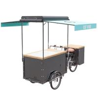 Cheap Europe Style Bicycle Ice Cream Cart High Strength Carbon Steel Frame wholesale