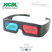 Cheap Promotional Adult Anaglyph 3D Red Blue Glasses For 3D Movies / 3D Pictures wholesale