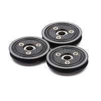 Cheap Flanged Ceramic Cable Pulley Wheels Black Color With Bearing , Plastic Body wholesale