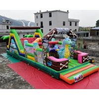 Cheap Jurassic Park Inflatable Obstacle Course Combo Bouncing Castle For Advertisement wholesale