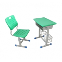 Cheap Single Table Student Desk And Chair Steel Furniture School Furniture For Student Plastic Metal wholesale