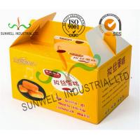 Cheap Custom Printed Foldable Cardboard Food Packaging Boxes For Cup Cake / Dessert Packing wholesale