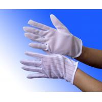 Cheap white PVC dotted ESD anti static cleanroom gloves wholesale