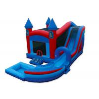 Cheap Inflatable Castle Combo Bounce House , Blow Up Bounce House 0.55mm PVC Tarpaulins wholesale