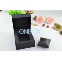 Cheap Single Men'S Watch Display Luxury Watch Box Fine Black Touch Paper With Soft Pillow for sale