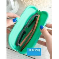 Cheap Silicone glasses case, Silicon Coin Purse with sealed bag for custom LOGO wholesale
