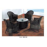 China Large round wood dining tables and 4 armchairs on sale