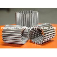 Buy cheap SS304 pleated stainless steel mesh for various inner filtration application ,the number of pleated customized available from wholesalers