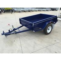 6x4 Tandem Box Trailer Single Axle Utility Trailer 750KG With Mudguards Checker Plate