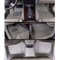 hand work product microfiber leather embroidered car floor mats