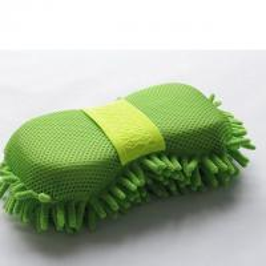 Cheap Microfiber Car Wash Sponge With Mesh And Wrist Band Chenille Car Wash Sponge Pad wholesale