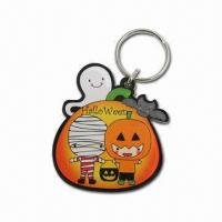 Cheap Laser-cut Clear Acrylic Key Tags, Halloween Motif wholesale