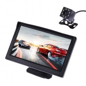 Cheap ABS Material Rear Camera Monitor , Car Backup Monitor With 8 LED Light Camera wholesale