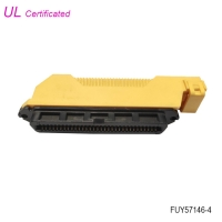 Cheap Centronics 64 Pin IDC Female Connector with L Shape Plastic Cover wholesale
