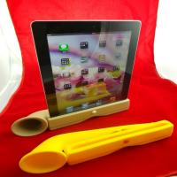 Cheap Cute Portable Ipad Silicone Skin Case Silicone Horn Stand Amplifier Speaker For Iphone wholesale