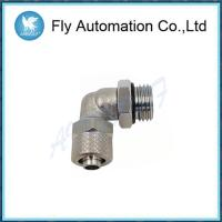 China Swivel Silvery Pneumatic Connectors Fittings Male Elbow Sprint 1541 Series on sale