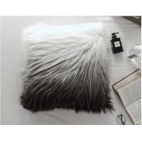 Cheap Custom Square Shape Faux Sheepskin Throw Pillow Covers  gradient Removable Washable wholesale