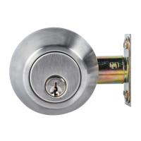 Cheap High Security SUS304 Single Cylinder Deadbolt Door Locks Plated Nickel Finish wholesale