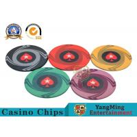 Cheap Round Plastic Ceramic Blank Casino Poker Chips Sets , Colorful Polyspectra Chip wholesale