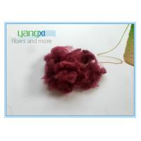 Cheap Red Dyed Staple Fiber Polyester 1.5D * 38MM With Semi Dull Luster wholesale