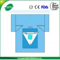 Buy cheap blue Surgical knee arthroscopy operation drape with EO sterile from wholesalers
