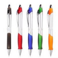 China Plastic ball pen with rubber grip on sale