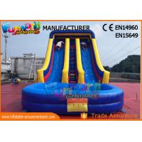 Cheap SGS TUV Outdoor Inflatable Water Slide For Lake /  Pool Customized Logo wholesale