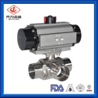 Cheap L Or T Type Sanitary Ball Valves Butt Weld Pharmacy Chemical Fluids Use wholesale
