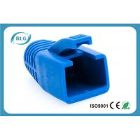 Blue Rubber Network Cable Accessories RJ45 Plug Boot For Cat7 Patch Cable