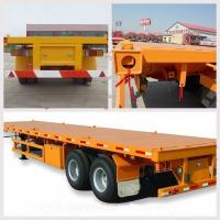 Buy cheap 20ft Fuwa axle flatbed chassis trailer with container twist lock 2 axles 40ft from wholesalers