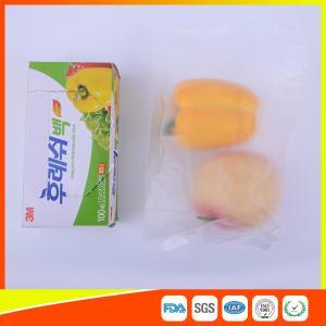 Transparent Fruit Packaging Zip Top Freezer Bags Plastic HDPE / LDPE Material