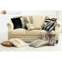 Buy cheap thick and soft pile 100% animal-free double sides home Faux Fur Pillows ,faux from wholesalers