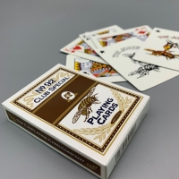 Cheap Frosted Finish 	88mm 89mm Length Cardboard Poker Playing Cards wholesale