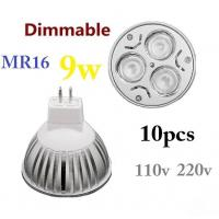 Cheap MR16 12V 9W 3x3W Dimmable High power CREE LED Spot Light Bulb Spotlight downlight lamp wholesale