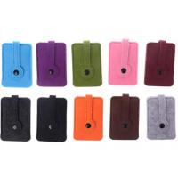 Cheap Unisex Car Key Wallet Purse Felt Key Chain Bags 43 Colors With 3mm Thickness wholesale