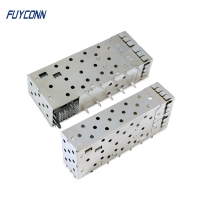 Cheap 40pin Female Small Form Factor Pluggable SFP+ Cage Connector wholesale