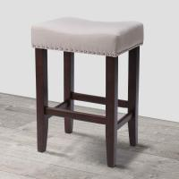 Cheap Wood Vintage Padded Counter Stools Modern Backless Design Indoor Furniture wholesale