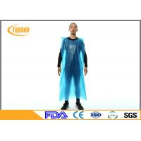 Disposable Plastic Aprons With Sleeves , Plastic Kitchen Aprons Custmozied Logo