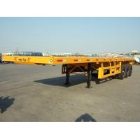 Cheap flatbed container 40ft  3 axle semi trailer   CIMC VEHICLE wholesale