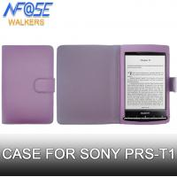 Cheap Purple Color Magnetic PU Sony Ereader Prs T1 Cover , Anti Scratch Wallet Style wholesale