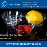 200ml thin wall PS disposable plastic ice cream bowls injection mould with lids