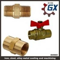 Cheap Cast NPT Full Port Private Label on Handle Two Ways Brass Ball Valve wholesale