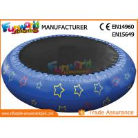 Cheap 0.9mm PVC Hot Welding Inflatable Water Toys / Blow Up Trampoline With Logo Printing wholesale