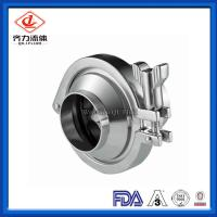 Cheap Weld End Sanitary Stainless Steel Valves Bright Gloss  Sanitary Check Valve wholesale