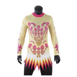 Cheap New Style Rhythmic Gymnastics Leotards / Gymnastics Bodysuits Lovely Patterns wholesale
